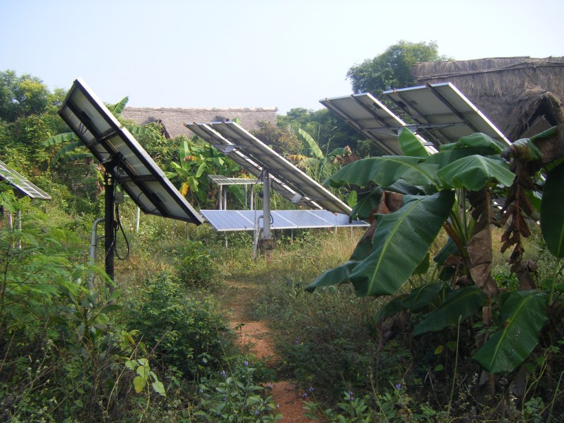 Solar panels at Sadhana Forest India, Auroville
